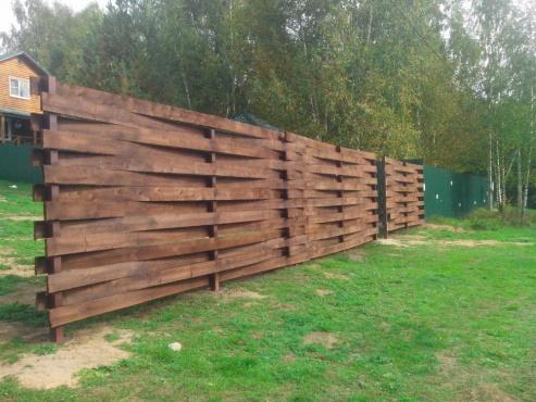 Забор из дюймовки своими руками 40